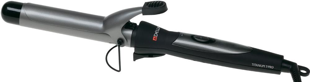 Щипцы для завивки Dewal Плойка для волос TitaniumT Pro, черный щипцы для завивки dewal titaniumt pro 33мм черный