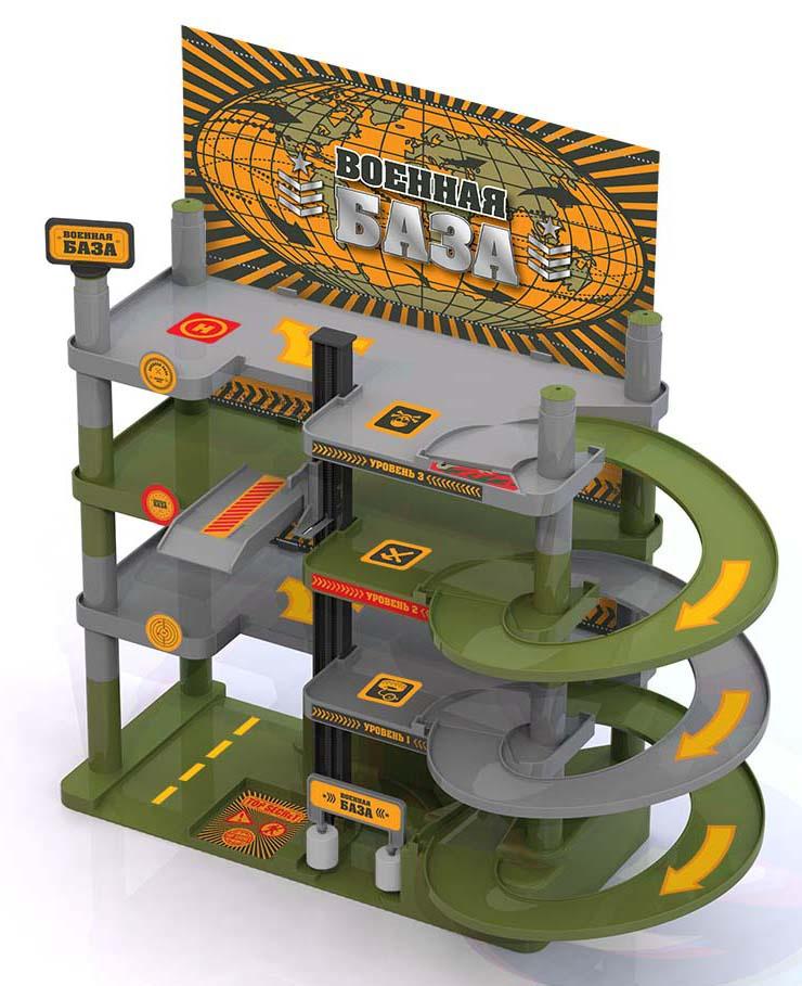 Гараж Нордпласт Военная база, 431223, мультиколор431223/На военной базе все должно быть четко и структурированно, в том числе и автотранспорт. Недопустить беспорядочной парковки машин поможет гараж! В него входит целый комплекс для автомобилей: лифт, мойка, сервис, заправка, большие этажи, съезды. Особенность данного гаража в том, что он является разборным: после игры его можно разобрать и убрать в коробку до следующей игры. Для гаража подойдут небольшие игрушечные автомобили размером 3 х 5 см. В комплект входят наклейки, которые помогут оформить игрушку в соответствующей тематике и придать ей законченный вид. Различные варианты сборки развивают у ребенка моторику рук, пространственное мышление, логику и фантазию. Размер гаража в собранном виде: 68*51*47 см. Комплектация: детали для сборки гаража, инстукция, набор наклеек, игровое поле.