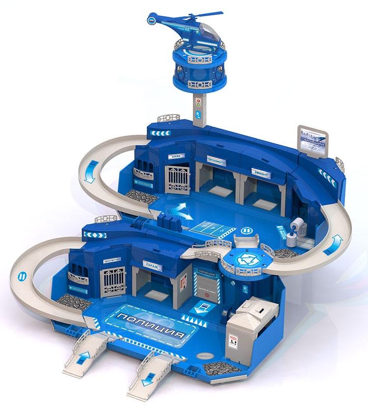 Игровой набор Нордпласт Полицейская станция, 431227, голубой
