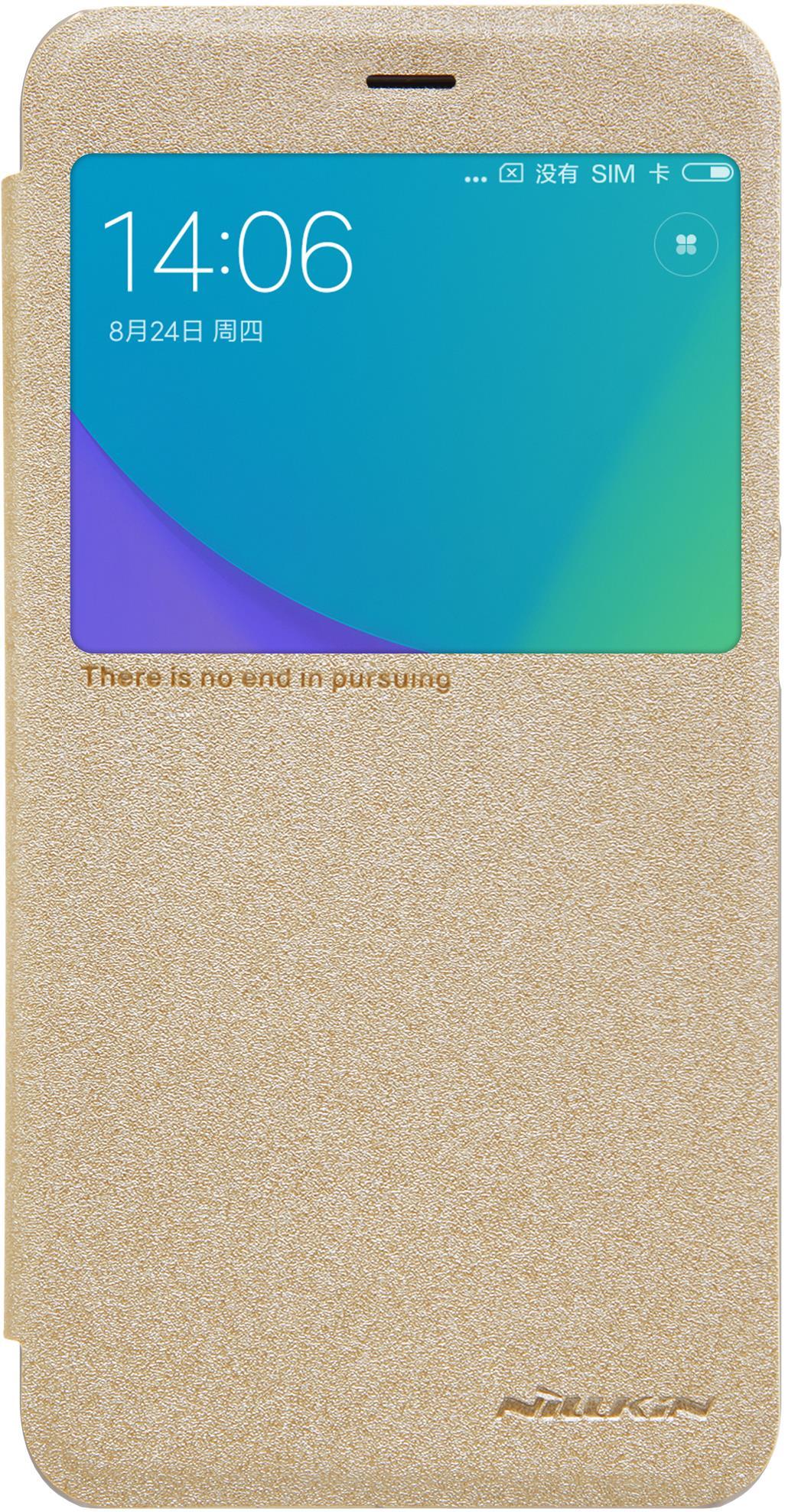 Чехол-книжка Nillkin Sparkle для Xiaomi Redmi Note 5A Prime, 6902048148673, золотистый чехол книжка nillkin sparkle для xiaomi redmi note 5a prime gold