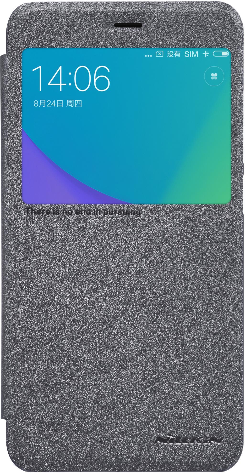 Чехол-книжка Nillkin Sparkle для Xiaomi Redmi Note 5A Prime, 6902048148666, черный чехол книжка nillkin sparkle для xiaomi redmi note 5a prime gold