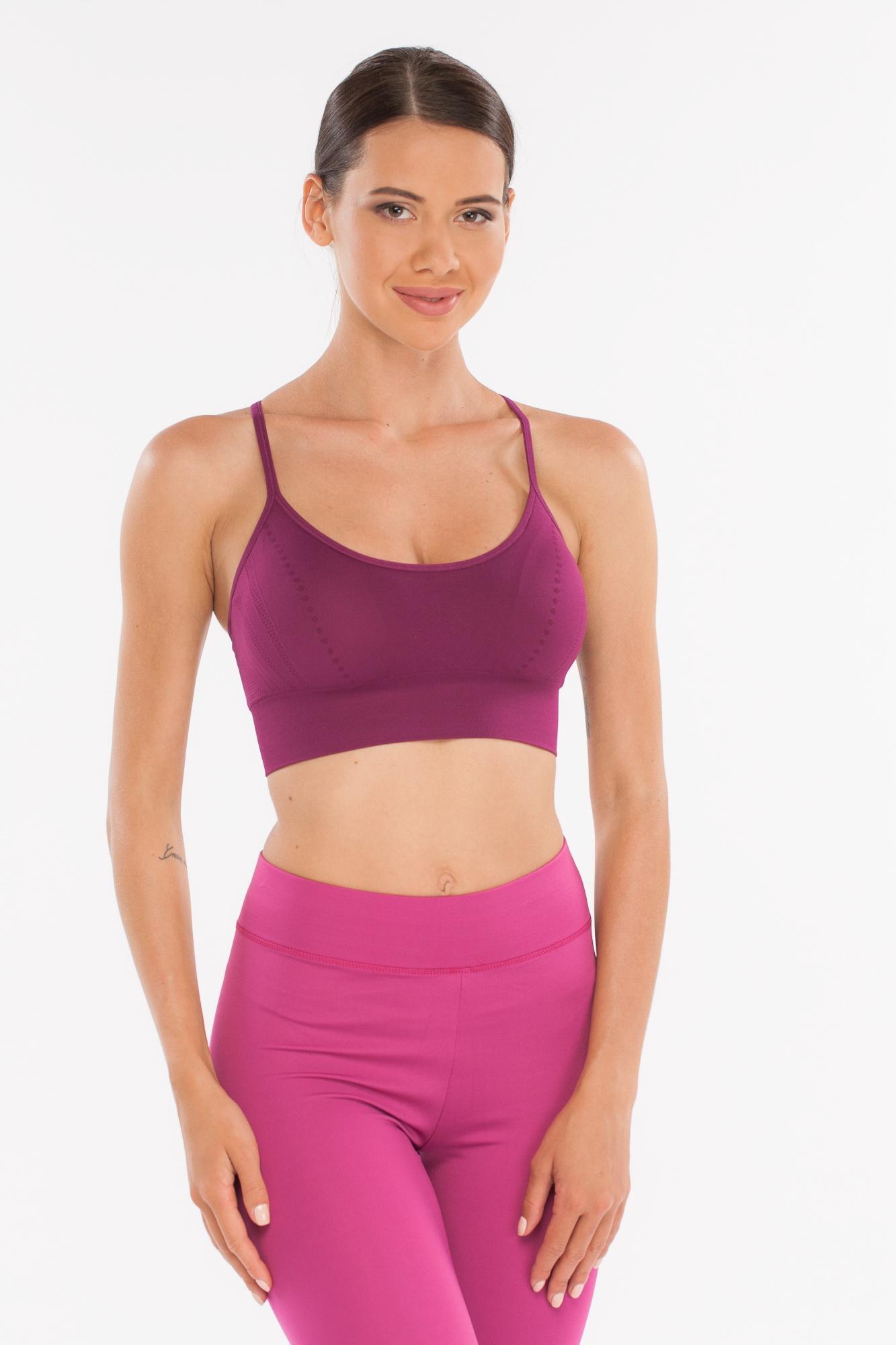 Топ женский PRO-FIT, цвет: темно-розовый. Размер 48/5011692 DARK BERRY (L)Спортивный топ для фитнеса