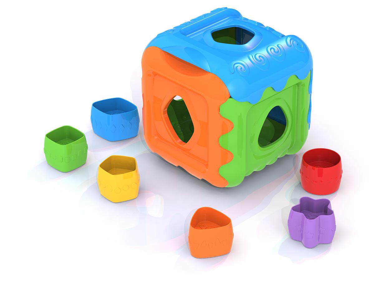"""Дидактическая игрушка Нордпласт Fisher Price """"Кубик"""", 783, голубой, оранжевый, зеленый, 13.5x13.5x14 см"""
