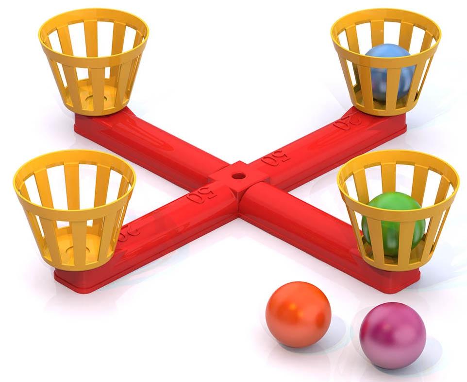 Напольная игра Нордпласт Веселый баскетбол, 157, красный-желтый, 17.5x12x29 см