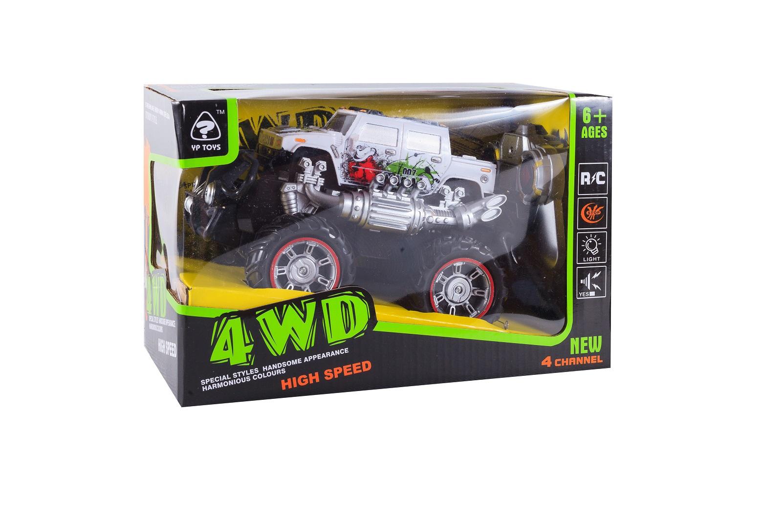 Машинка радиоуправляемая S+S Toys, 100692020, белый машины s s toys машинка радиоуправляемая мега драйв