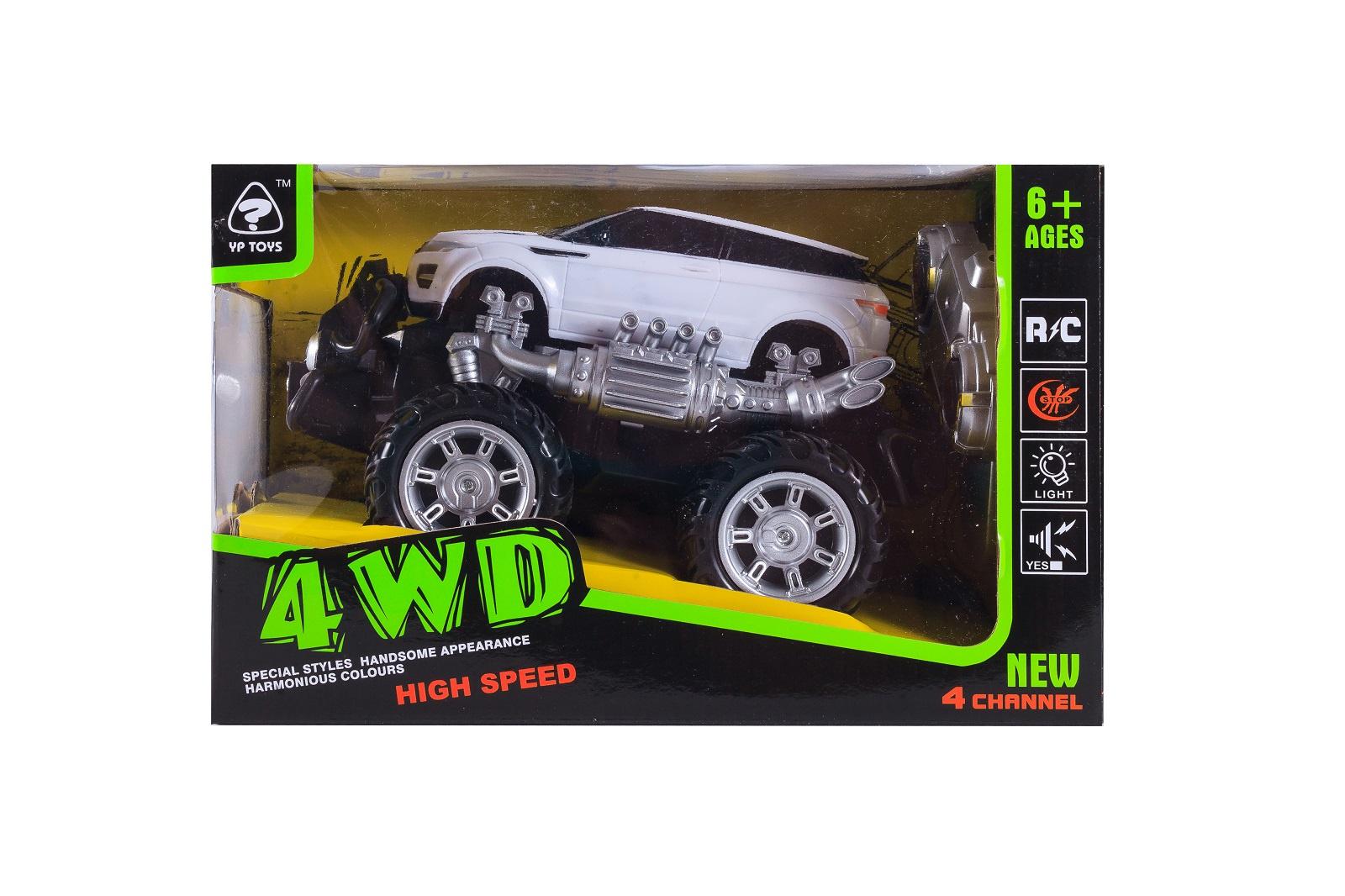 Машинка радиоуправляемая S+S Toys, 100677379, белый машины s s toys машинка радиоуправляемая мега драйв