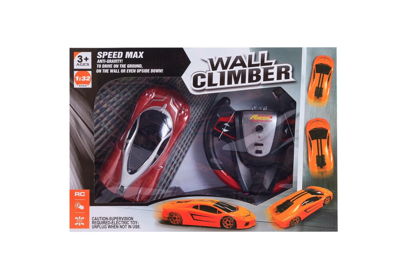 Машинка радиоуправляемая S+S Toys Wall Climber, 100992829, красный автомобиль на радиоуправлении s s toys 101036658 на батарейках белый