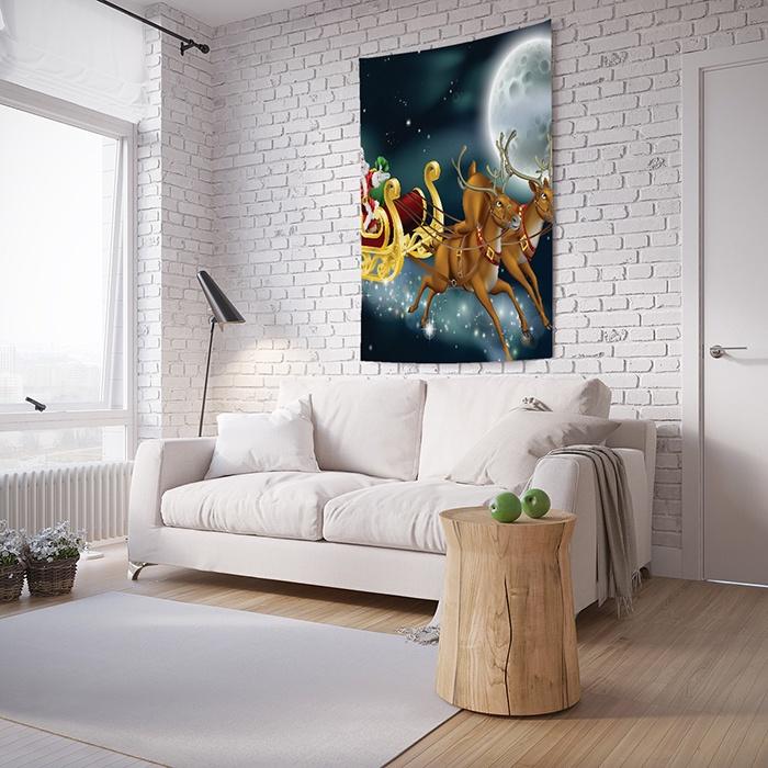 Панно с фотопринтом на стену JoyArty На оленях через космос, tp_20042, 100x150 см