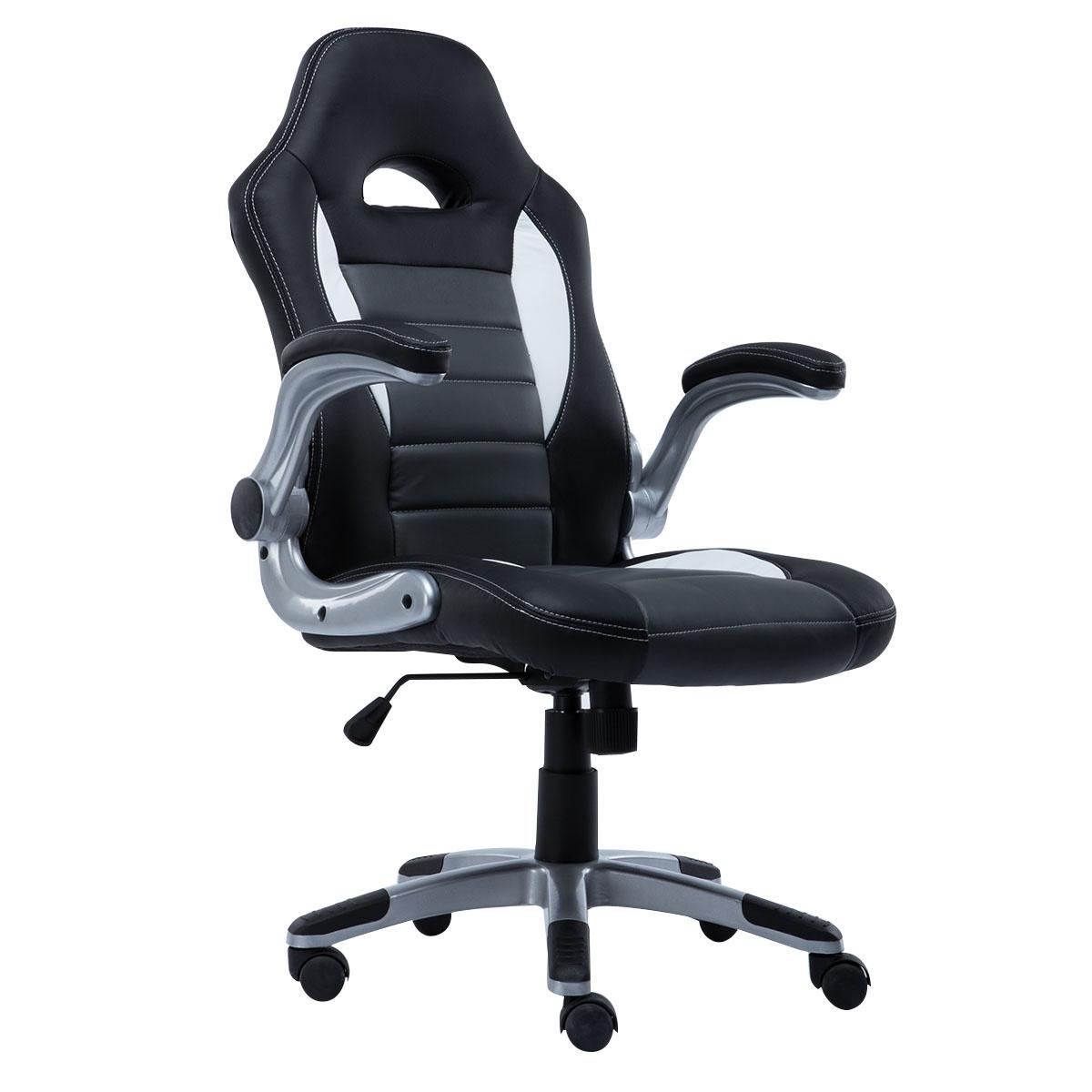 Кресло Costway игровое, ZK8040GR компьютерные кресла и стулья