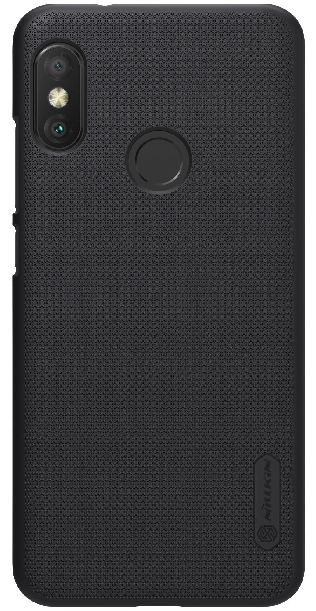 Накладка Nillkin Super Frosted для Xiaomi A2 Lite/6 PRO, 6902048161054, черный силиконовая накладка nillkin для xiaomi mi a2 white