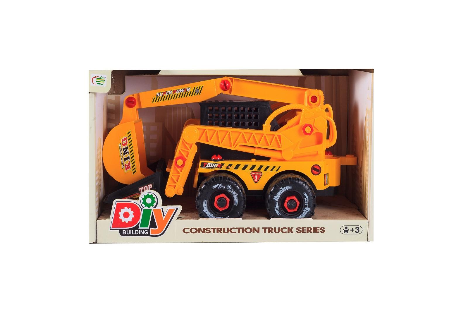 Машинка-конструктор S+S Спецтехника, 101021020, оранжевый
