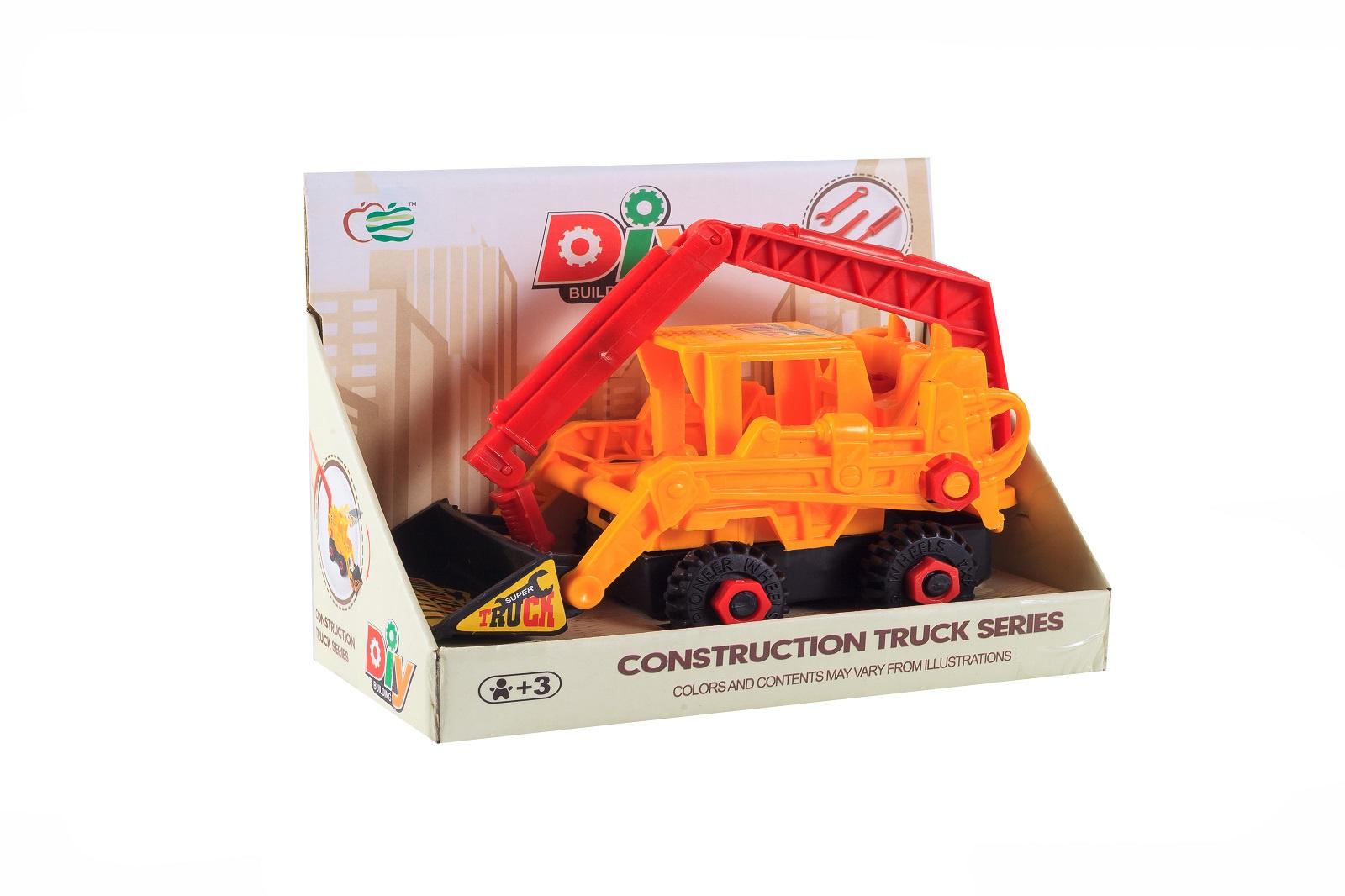 Машинка-конструктор S+S Спецтехника, 200107114, оранжевый машины s s toys машинка радиоуправляемая мега драйв