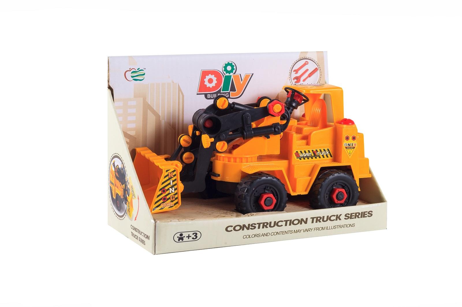 Машинка-конструктор S+S Спецтехника, 200107116, оранжевый машины s s toys машинка радиоуправляемая мега драйв