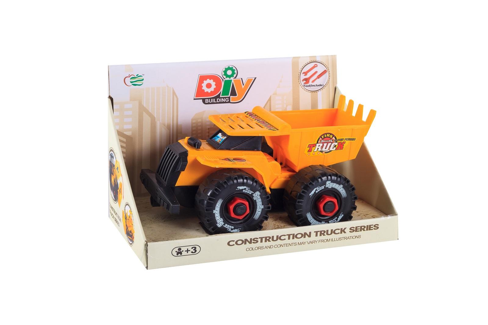 Машинка-конструктор S+S Спецтехника, 200107126, оранжевый