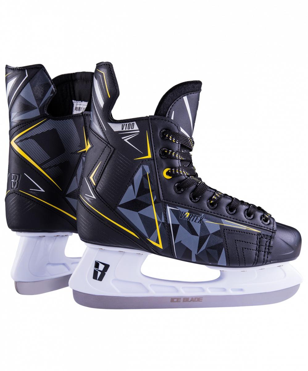 Коньки хоккейные Ice Blade Vortex V100, УТ-00010444, черный, серый, размер 36