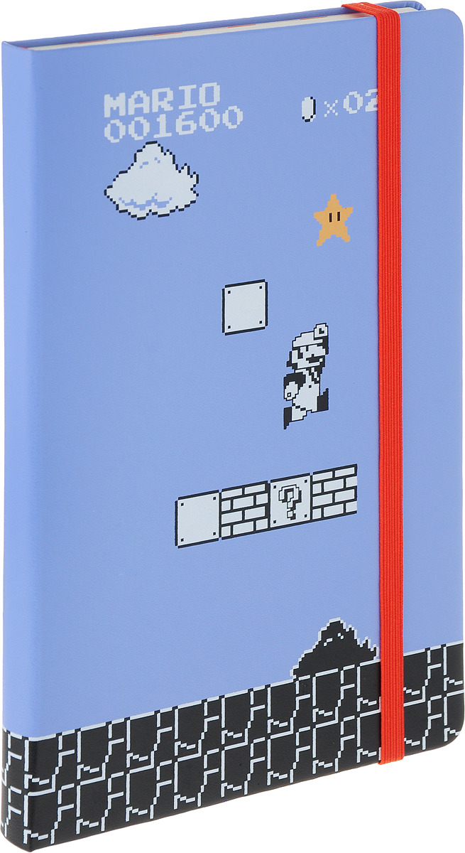 Блокнот Moleskine Limited Edition Super Mario, 192 листа, линейка, цвет: черный, 130х210 мм блокнот moleskine limited edition transformers large 130х210мм 240стр линейка optimus prime