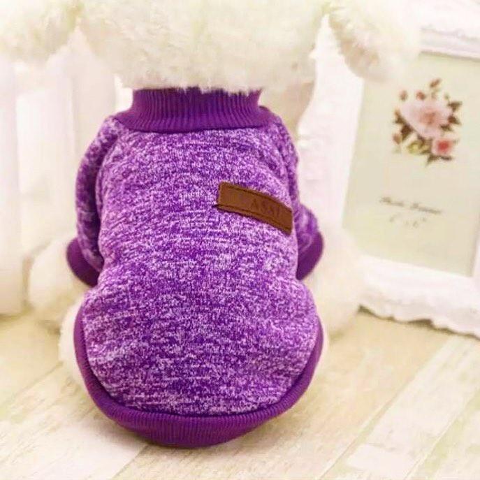 """Свитер для собак """"Classic"""", цвет фиолетовый, размер М"""