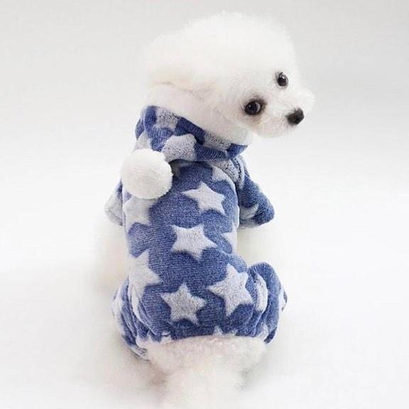 """Комбинезон для собак Arnydog.ru """"Звезда"""", голубой, размер XL (34 см)"""