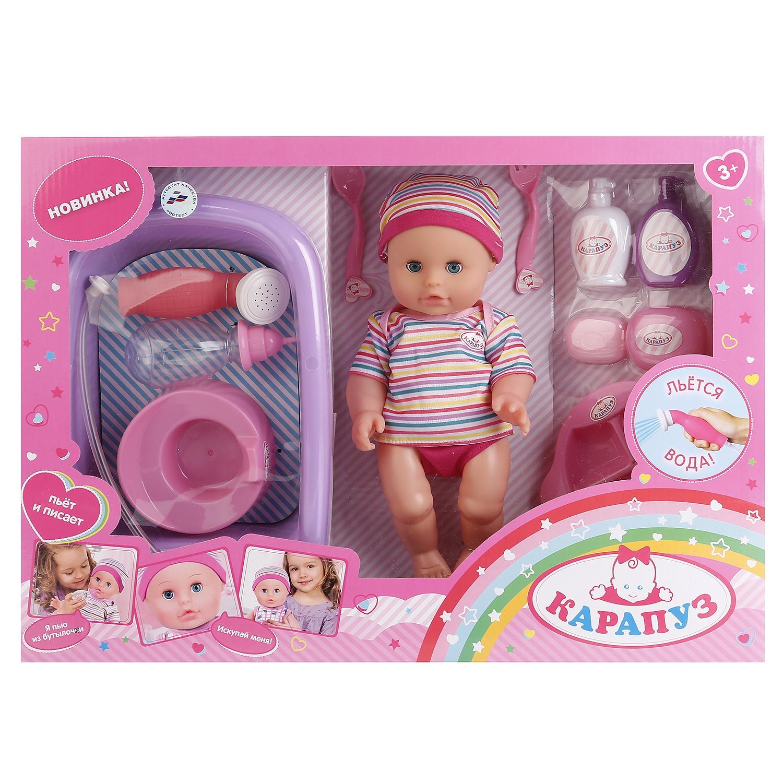 Пупс Hello Kitty Карапуз, 234532, пьет, писает, с аксессуарами карапуз пупс озвученный hello kitty цвет одежды розовый