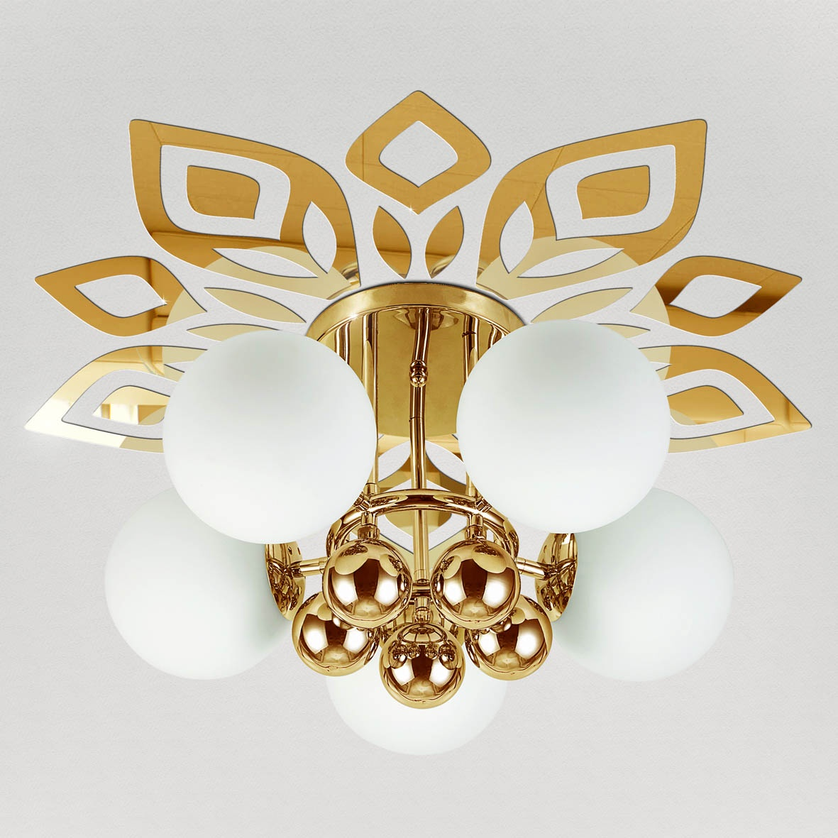 """Декор под люстры Ваша Светлость """"Люпин"""" зеркальный , 2-01201FG, золотой"""