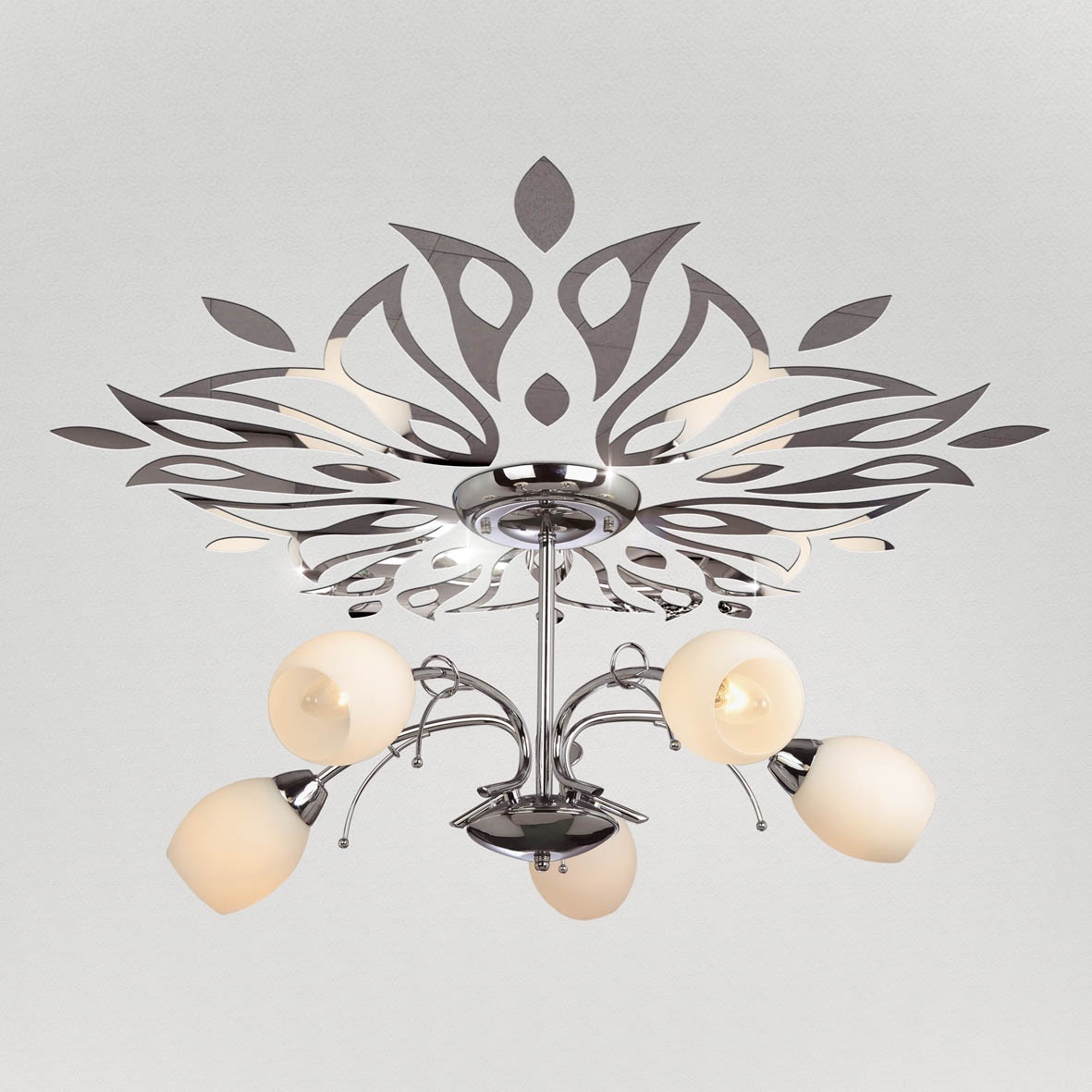 """Декор под люстры Ваша Светлость """"Ландыш"""" зеркальный, 2-00601CR, хром"""