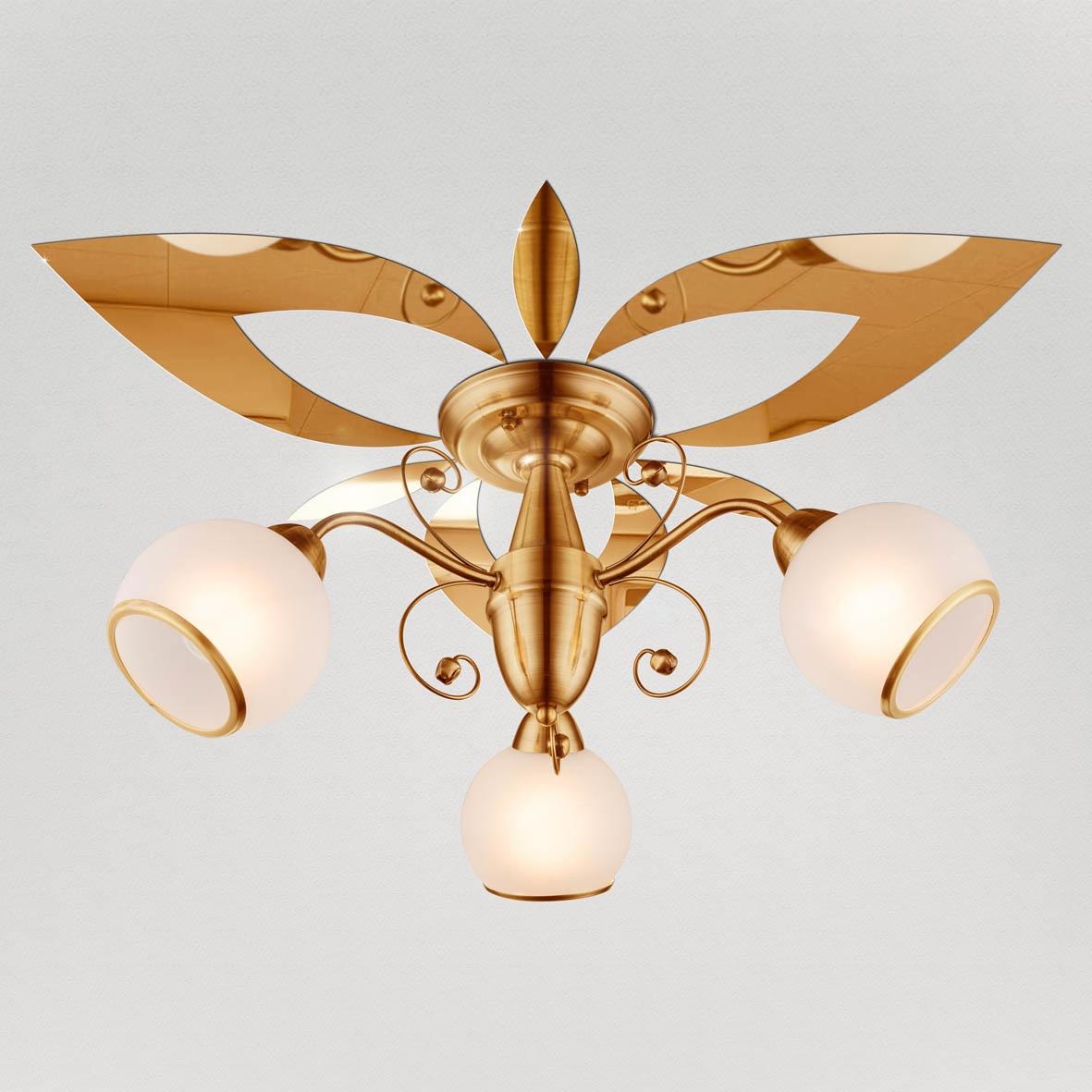 """Декор под люстру Ваша Светлость """"Лилия-3"""" зеркальный, 2-00411FG, золотой"""