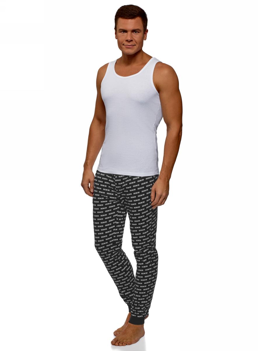 Брюки oodji брюки пижамные в полоску 100% хлопка
