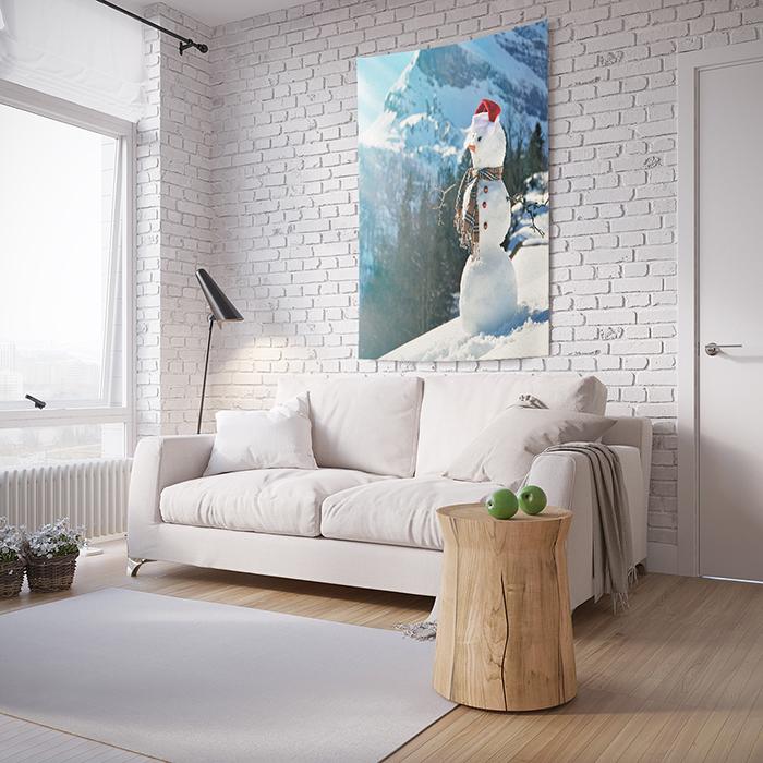 Панно JoyArty Снеговик в горах, на стену, с фотопринтом, tp_4541, 100 x 150 см