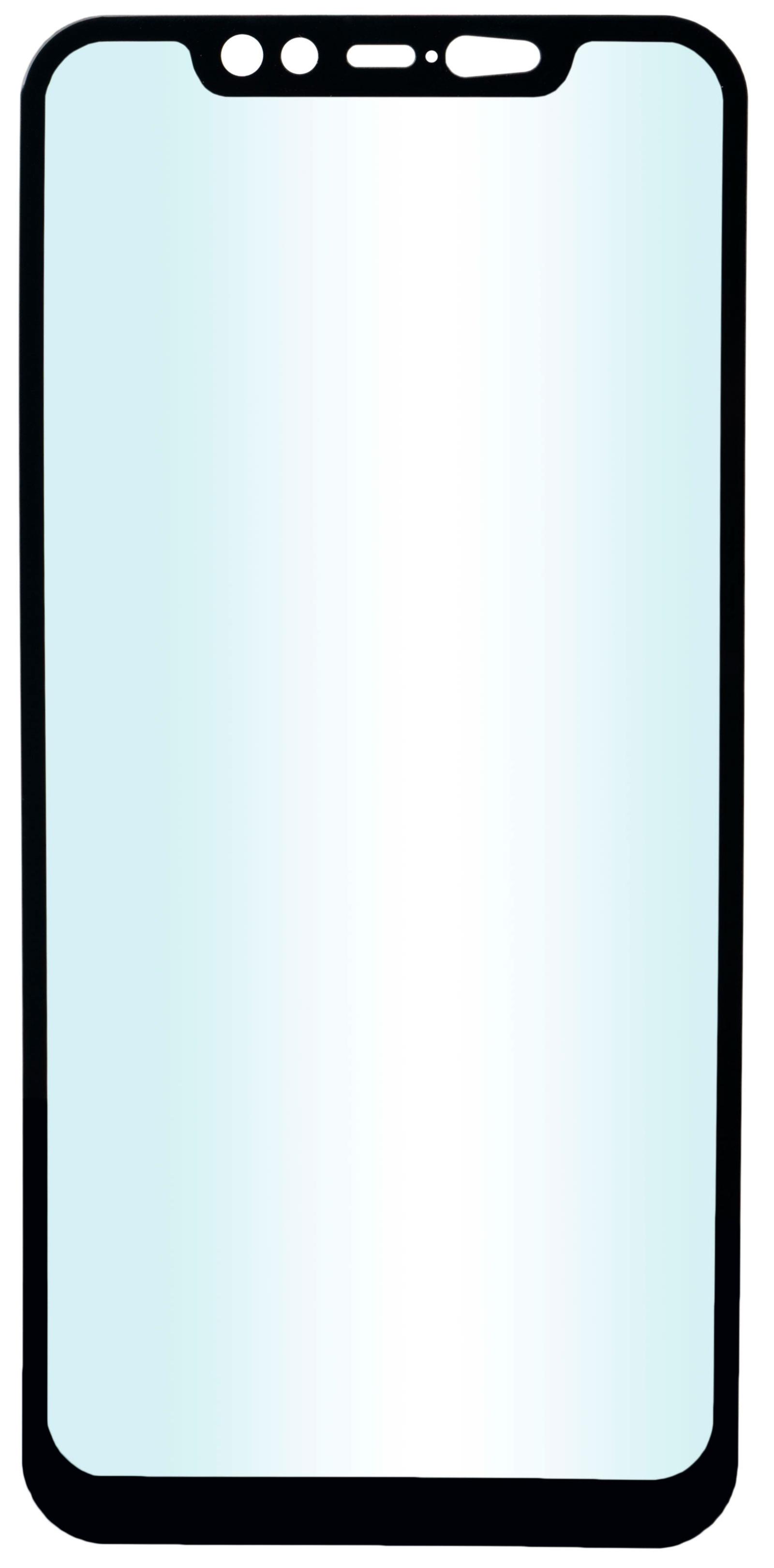 Защитное стекло skinBOX, для Xiaomi Mi 8, 4660041405477, черный защитное стекло onext xiaomi mi 8 pro 2018