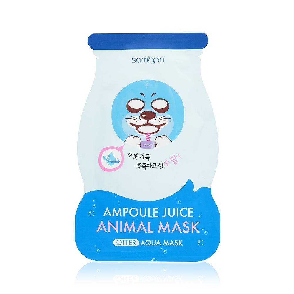 Ампульная маска-сет с коллагеном Scinic Ampoule Juice Animal Mask (Otter), 3 шт*33 гр