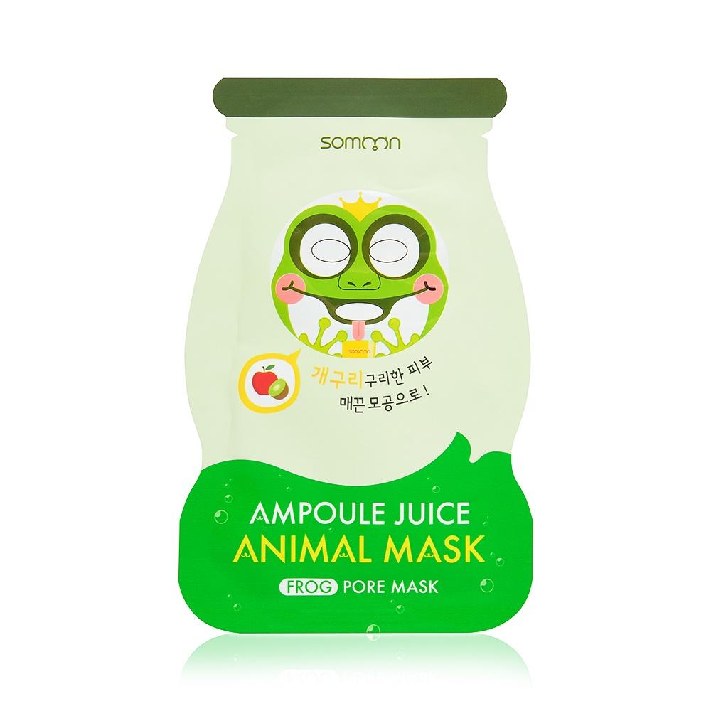 Ампульная маска-сет для жирной кожи Scinic Ampoule Juice Animal Mask (Frog), 3 шт*33 гр