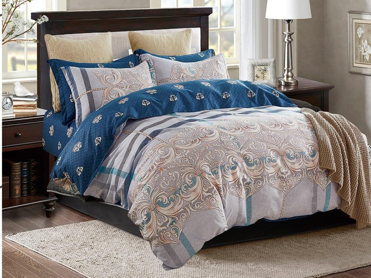 Комплект постельного белья Cleo Satin lux 20/299-SL, 2-х спальный, разноцветный, наволочки 70x70 постельное белье cleo satin lux 20 070 sl комплект 2 спальный сатин