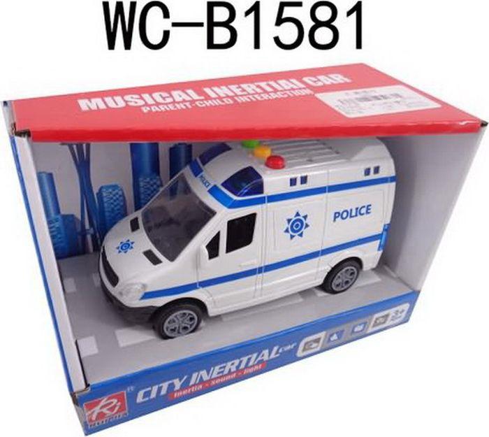 Машинка полицейская Junfa Toys, RJ6689B инерционная машинка best toys машина желтый