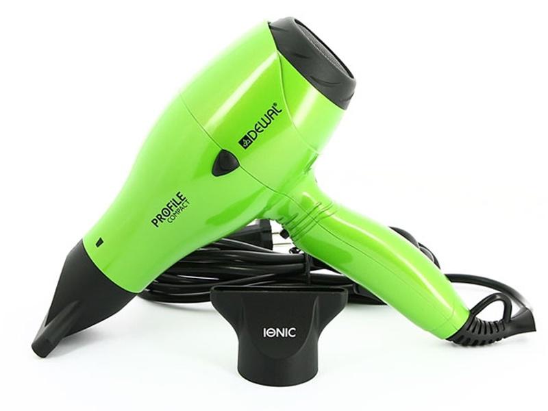 Фен для волос Dewal Profile Compact, зеленый