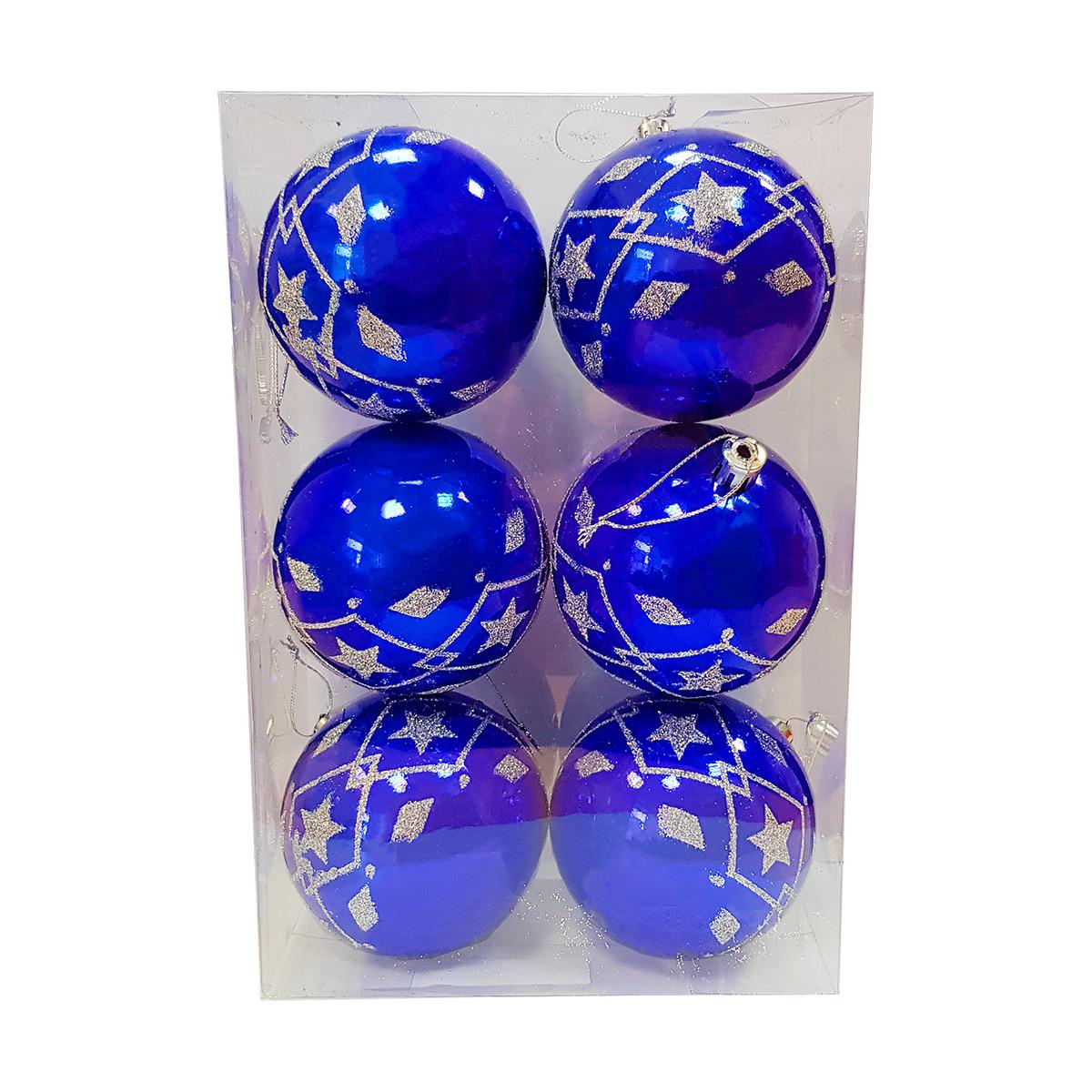 Фото - Набор елочных шаров Магия праздника, диаметр 8 см, 6 шт. NY040 набор елочных шаров магия праздника ny032 красно белый диаметр 6 см 12 шт