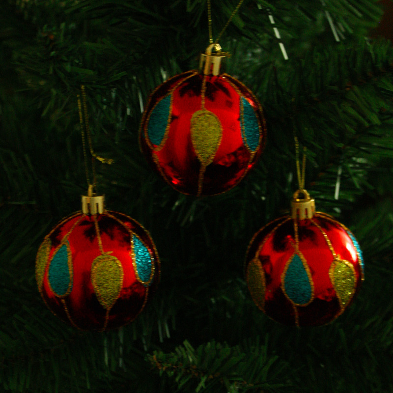 Набор елочных шаров Магия праздника, диаметр 6 см, 6 шт. NY048 набор ёлочных игрушек русские подарки шары цвет розовый 6 см 6 шт