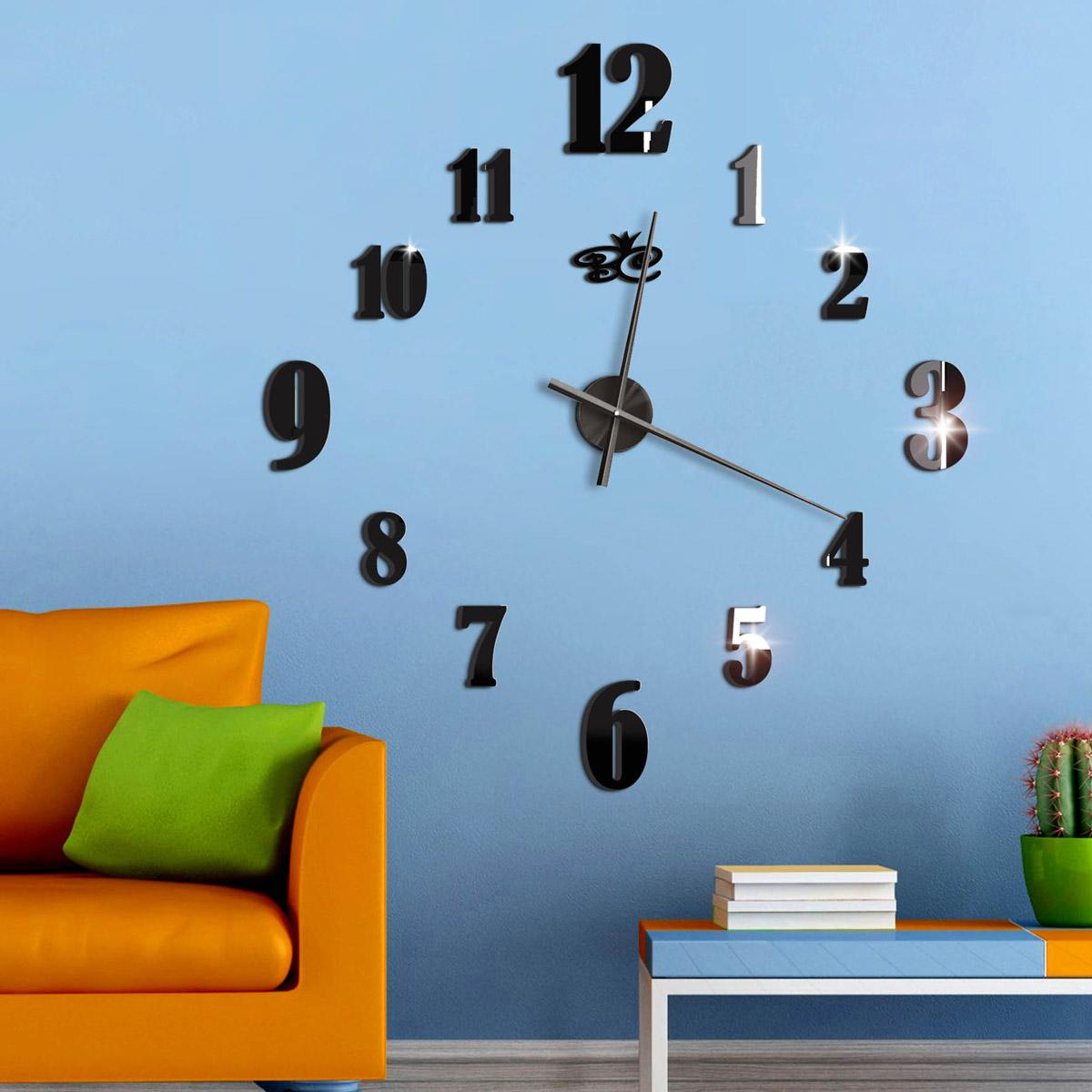"""Часы настенные Ваша Светлость Ромб бескаркасные, 417-3-01001BK, черный417-3-01001BKБольшие настенные бескаркасные часы - красивый современный настенный декор с функцией хронометра. Рекомендованный размер производителя указан на схеме, но окончательное решение, за покупателем. Минутная стрелка - 45 см. Часовая - 39 см. Точность хода +-1 сек в сутки. При установке не нужно сверлить стены и не нужны инструменты - все в комплекте для быстрой и точной установки. Все декоративные элементы уже на самоклеющейся основе (не нужен двухсторонний скотч) """"Запас хода"""" обычной батарейки 8-9 месяцев. Время установки до 1 часа."""