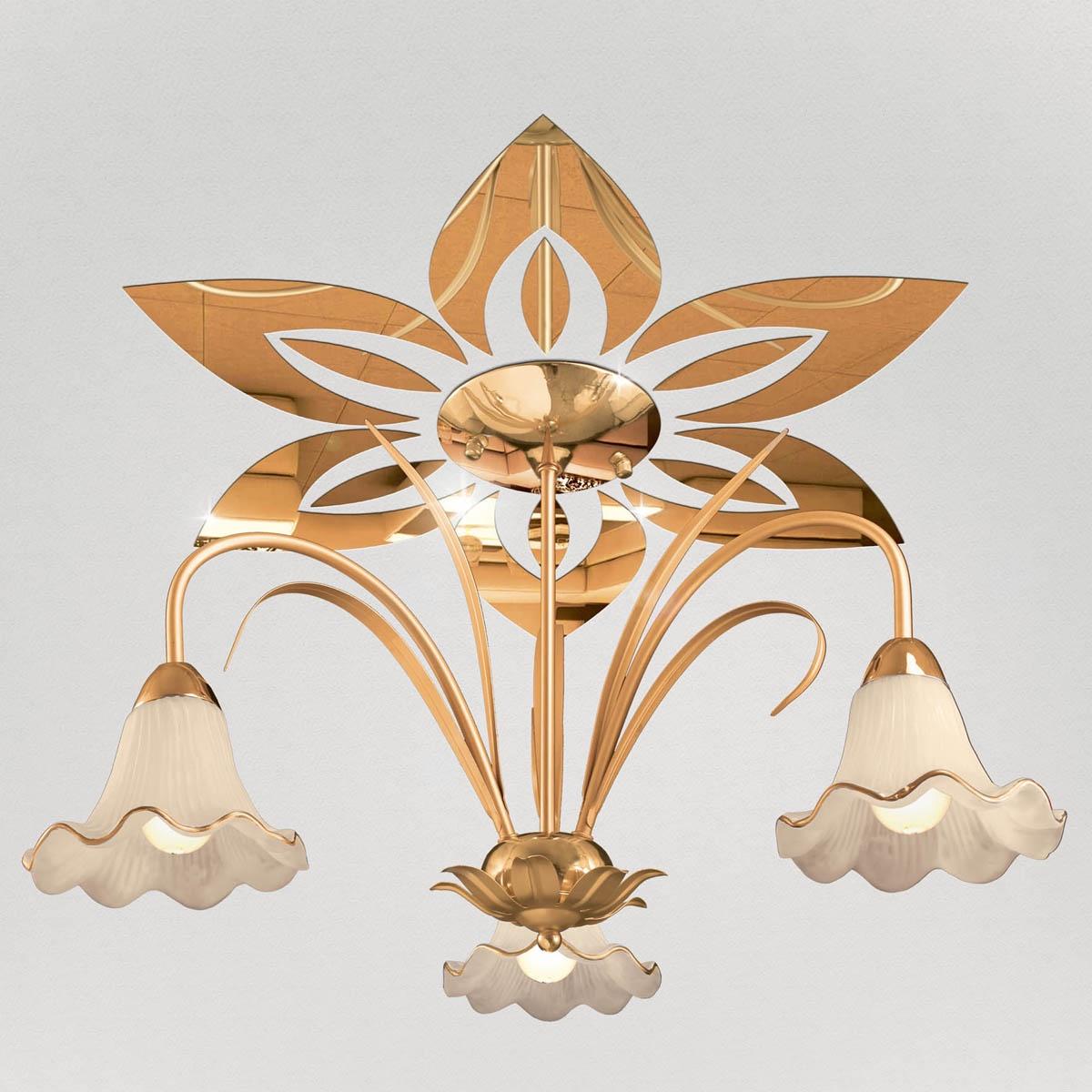 """Декор под люстры Ваша Светлость """"Лилия-6"""" зеркальный, 2-00401FG, золотой"""