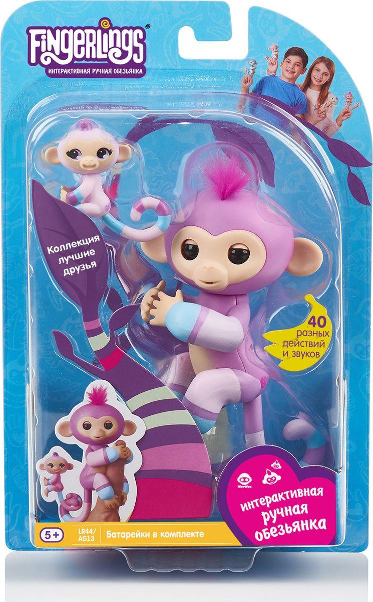 """Интерактивная игрушка Fingerlings """"Обезьянка: Вайолет с малышом"""", 3543, 12 см"""