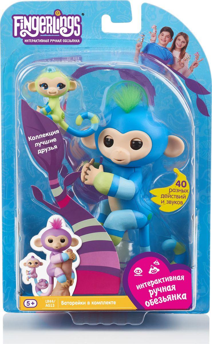 """Интерактивная игрушка Fingerlings """"Обезьянка: Билли с малышом"""", 3541, 12 см"""