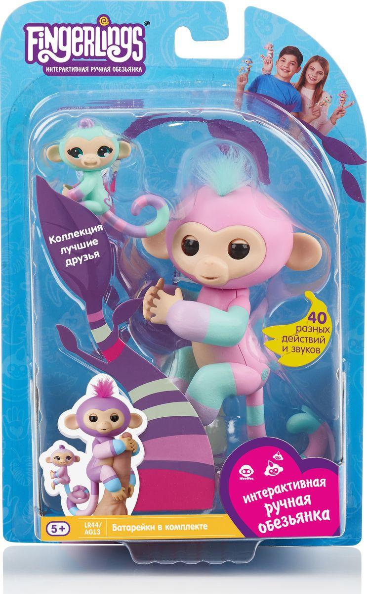 """Интерактивная игрушка Fingerlings """"Обезьянка: Эшли с малышом"""", 3542, 12 см"""