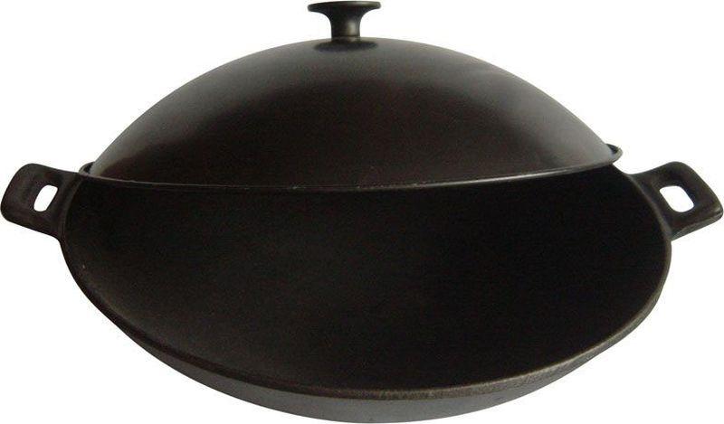 Сковорода-вок Mallony W-31L, с металлической крышкой, диаметр 31 см сковорода mallony 2540 с антипригарным покрытием диаметр 24 см
