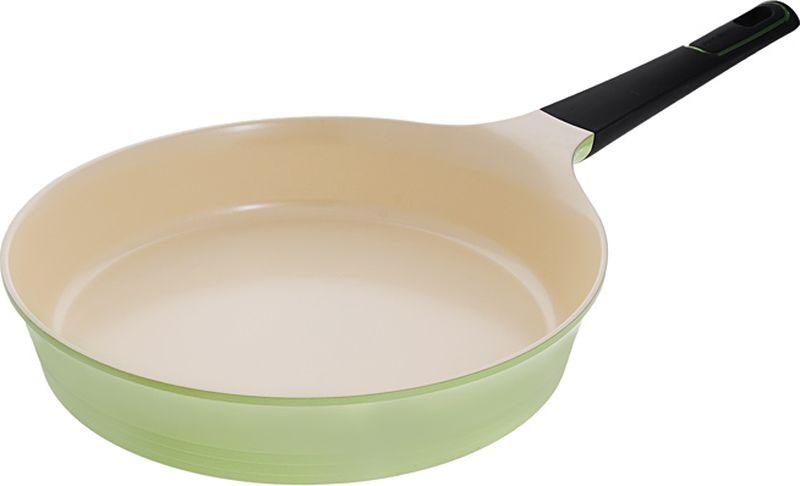 Сковорода Frybest Ever Green, 28cм, цвет:зеленый/светлое внутр. покрытие GRCA-F28