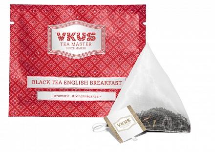 Черный чай Vkus tea master Английский завтрак, в пирамидках, 50 шт чай eilles английский завтрак био черный 20 пакетиков пирамидок