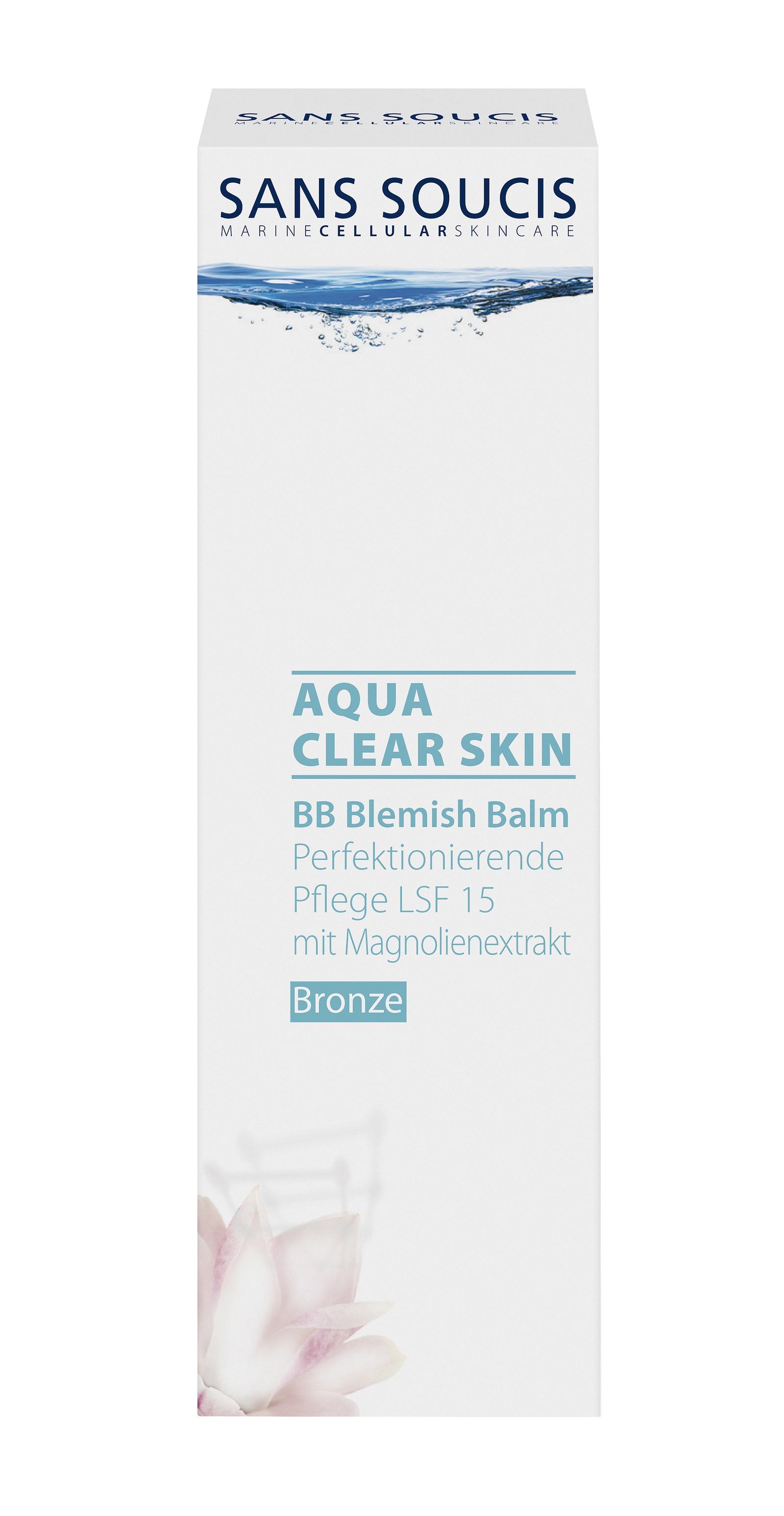 BB-крем Sans Soucis Aqua Clear Skin, бронзовый, 40 мл крем с термальной водой