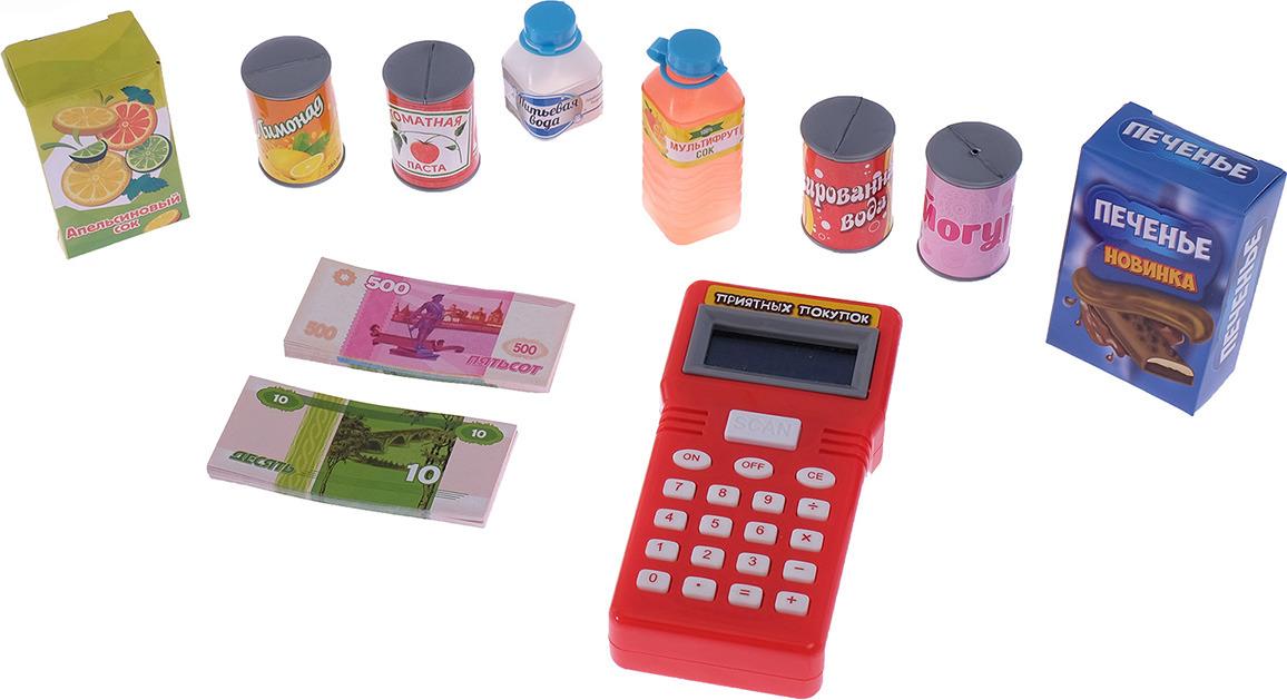 """Касса-калькулятор """"Идем в магазин"""", 2146606, с аксессуарами"""