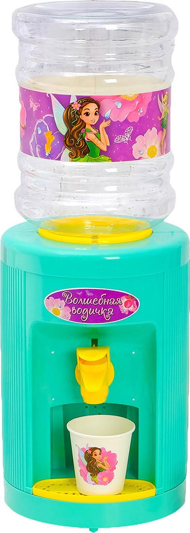 Игрушечный кулер Zabiaka Волшебство, 2885444, с бутылкой и стаканчиками2885444Детский кулер - это правильный ответ на вопрос Как научить ребенка самостоятельно пить воду?. С детским кулером-игрушкой питье ребенка станет занимательным, интересным и полезным. Детский кулер абсолютно механический, без нагрева и без охлаждения воды. Жидкость в нем будет комнатной температуры.