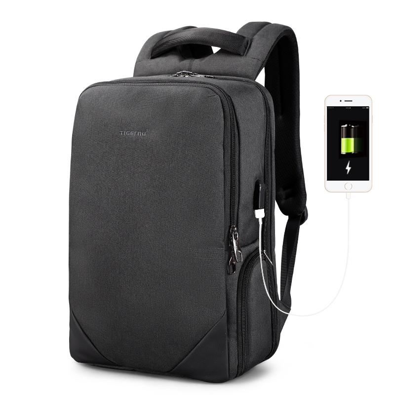 Рюкзак Tigernu T-B3601, 6928112309085, темно-серый 15 6 рюкзак для ноутбука tigernu t b3221 темно серый