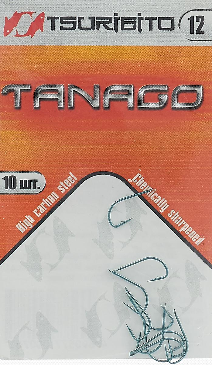 Крючки рыболовные Tsuribito Tanago №12, 10 шт крючки рыболовные lucky john predator ljh520 размер 4 7 шт