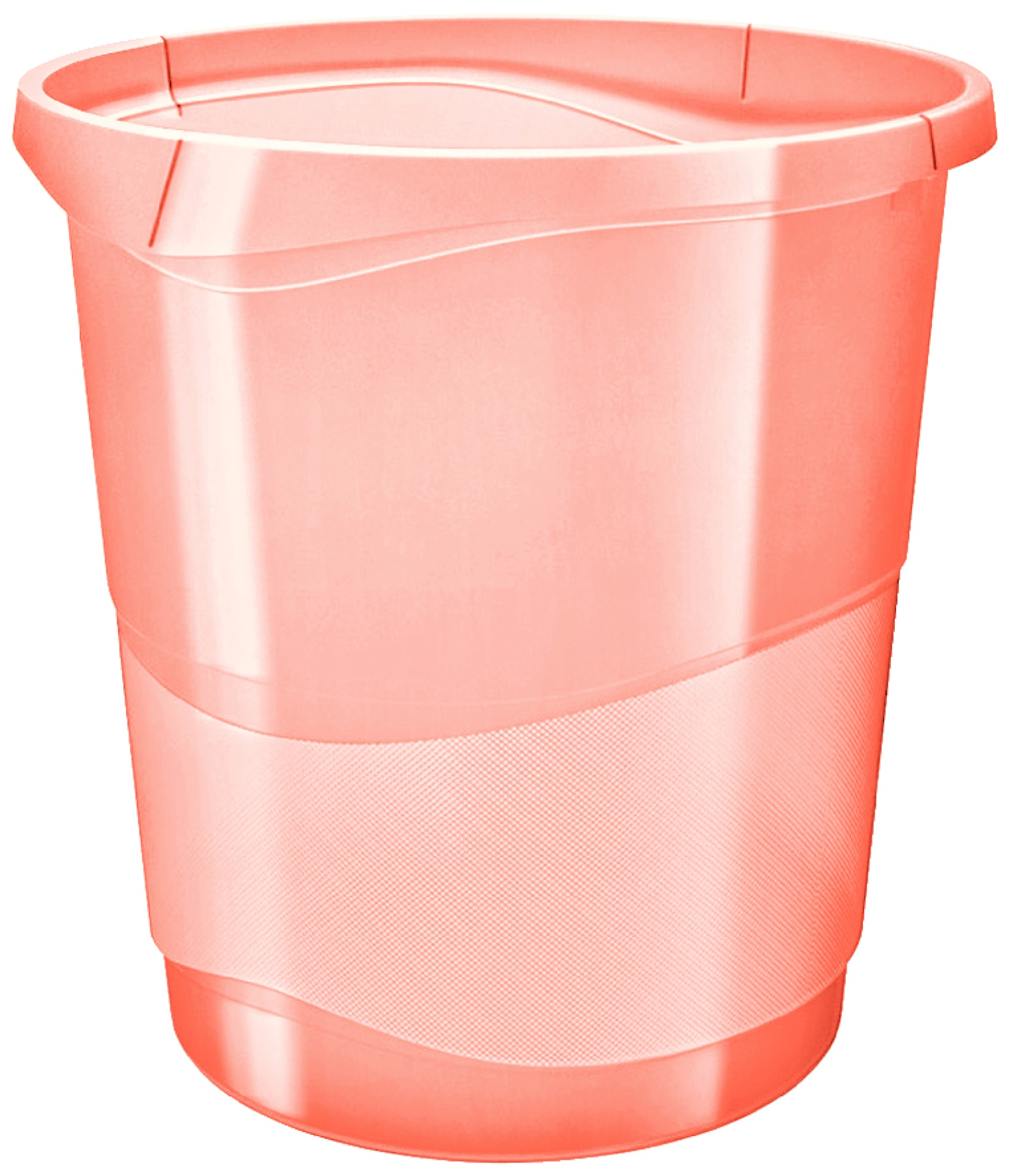 Корзина для мусора Esselte Colour'Ice, абрикосовый, 14 л корзина для бумаг цельнолитая синяя 13 литров